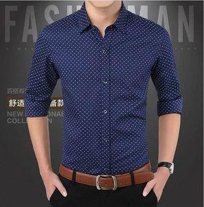 2018 Autumn New Men Shirt Fashion Brand 100%cotton Slim Fit Casual Lon – cgabu…