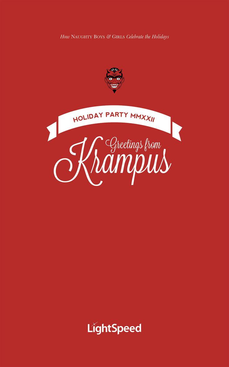 LightSpeed Krampus Party Invitation, designed by Kira Butler in Montreal. http://www.elixireleven.com