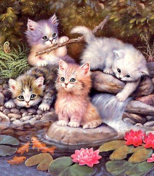 Анимированные открытки с котиками