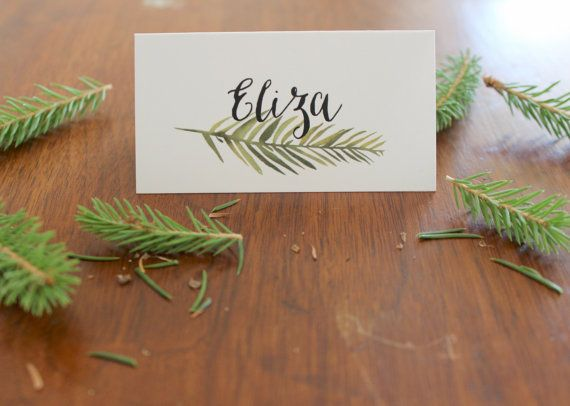 Pine Forest Place Cards by EloquentPaper on Etsy