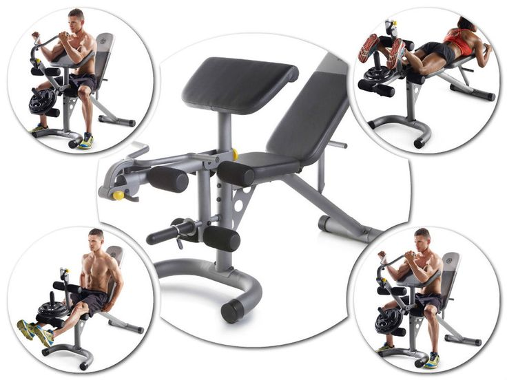 Fitness Equipment For Abs Workout Exercise Adjustable Bench Curl Yoke Leg Train #Unbranded