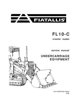 New Holland Fiat-Allis 10-C Crawler Tractor Service Repair