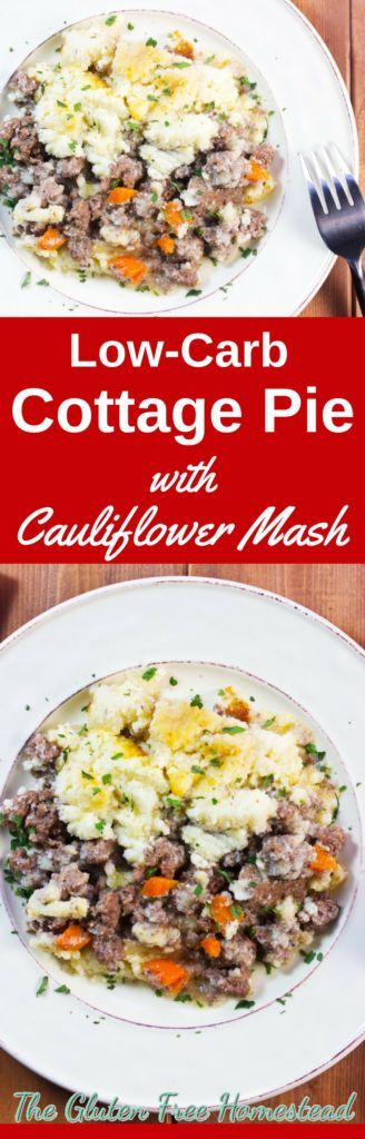 Learn how to make classic cottage pie with healthy ingredients & low carb cauliflower mash | Mock mashed potatoes | Low Carb recipe | Gluten free recipe | Comfort food | Cooking tips
