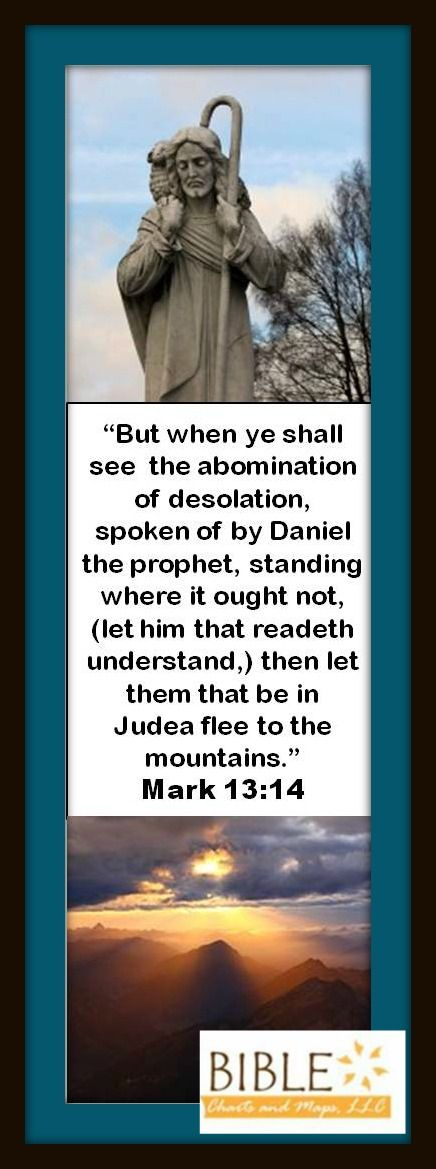 What does that scripture mean? Click here to read about it: http://amazingbibletimeline.com/blog/what-is-the-abomination-that-causes-desolation/