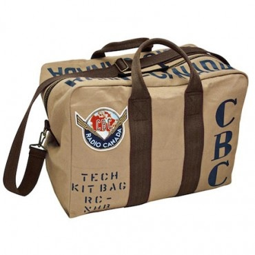 This stylish kit bag is made with rugged 20-ounce cotton twill, and its straps are made of heavy cotton webbing. Antique brass offers character to the zippers and detailing. With CBC screen-printed stencils and 40's logo felt patch applique.