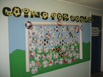Going for Goals Display, classroom display, class display, awards,goals, achieve, football, rewards,strategy, Early Years (EYFS), KS1&KS2 Primary Resources