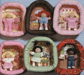 Cabbage Patch Kids pin ups- I remember playing with these, but don't think I owned one.