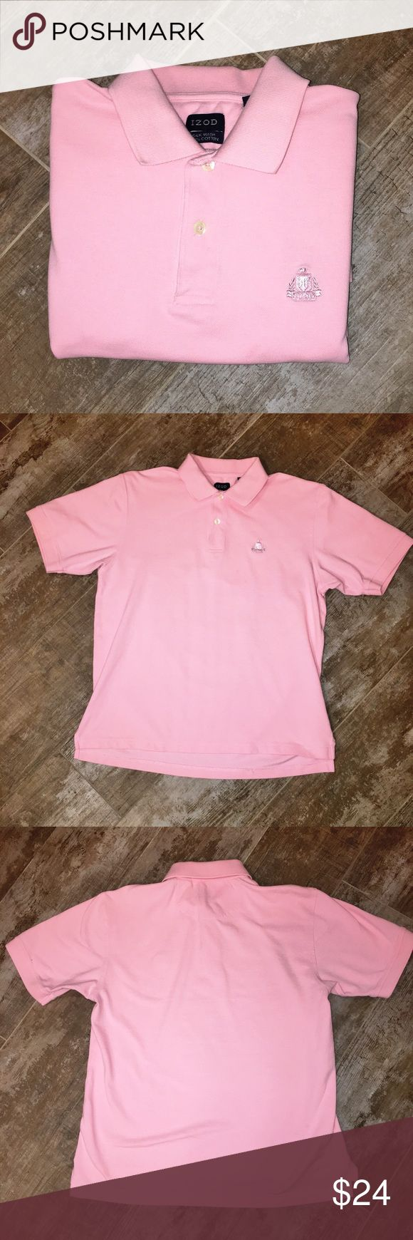 Izod Men's Pink Polo Shirt Size M Izod Men's Pink Polo Shirt Size M - Excellent Condition Izod Shirts Polos