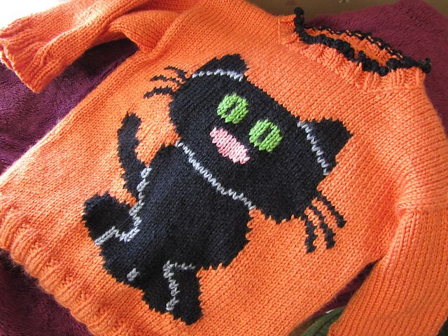 Best 160 knitting jaquard images on pinterest diy and - Knitted cat sweater pattern ...