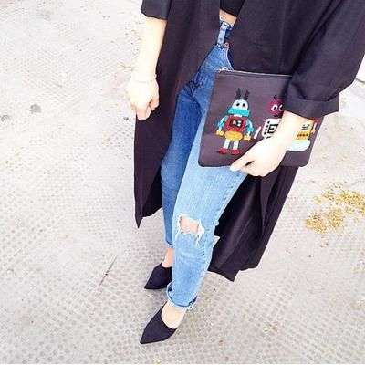 How cute is this robot clutch bag! NEED #asosXCovetMe #asos #covetme