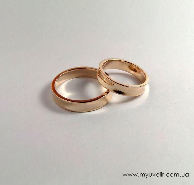 Обручальные кольца классика без камней