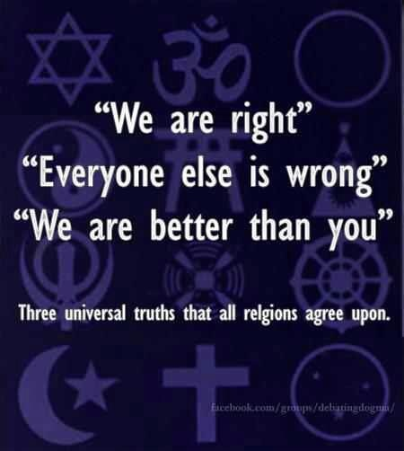 Religion has always supported bigotry...giving those who choose to follow the false assumption that believing will make them 'better' than others who believe something different or don't believe at all. I am for true equality, I root for humanity to become wiser through unbiased fact based education. I hope and long for humanity to come together and realize we are  ALL one world, one people...no more divisions or unnecessary labels, no more bigotry...just humanity and earth...I have hope.