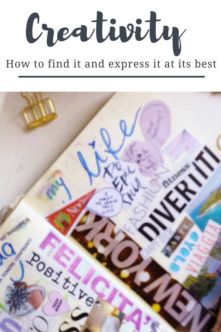 Find your inner source of creativity and learn how to express it on https://samanthacarraro.wordpress.com/2016/10/06/10-ways-to-express-your-creativity/ | with bullet journal, lettering, dream board, watercolors, photography and blogging | lifestyle | creativity | better life | family and children