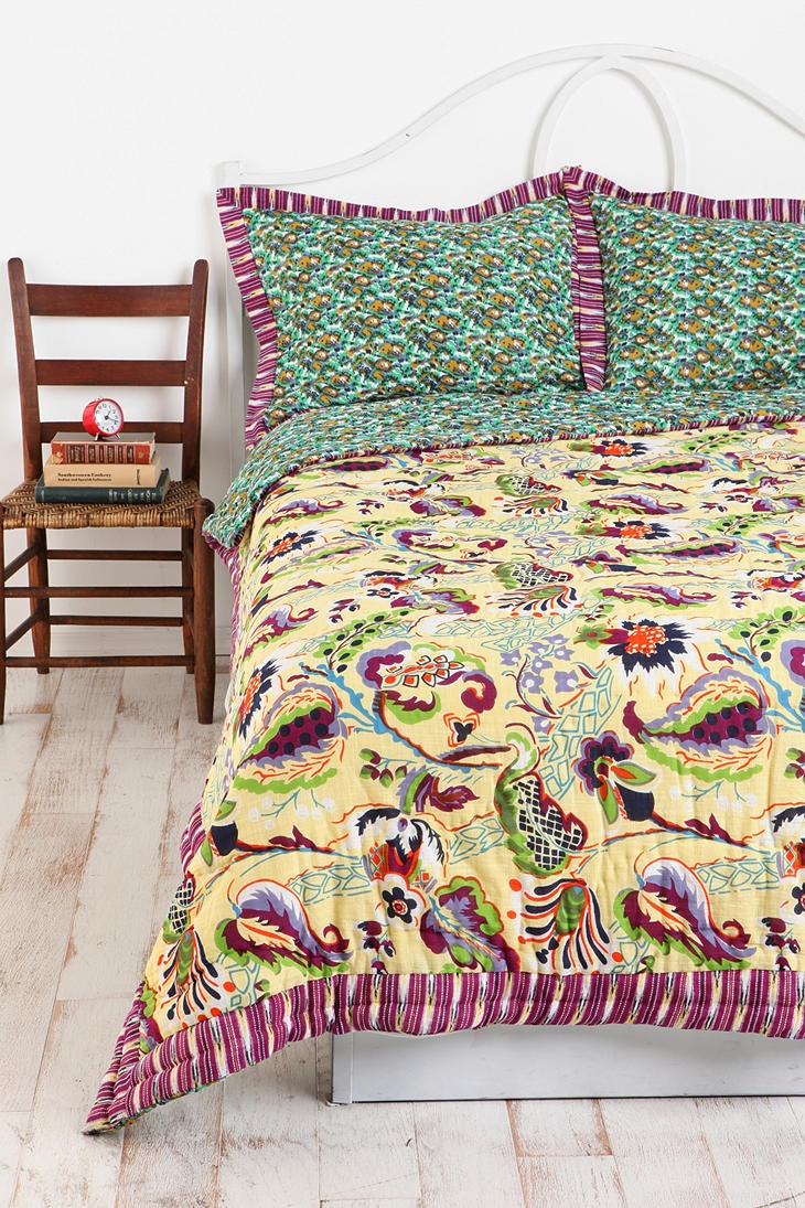 Abstract Flowers Quilt  Now $149
