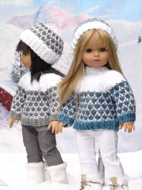 Olympia  a faux fair isle sweater and ski hat by DebonairsDesigns, $3.75