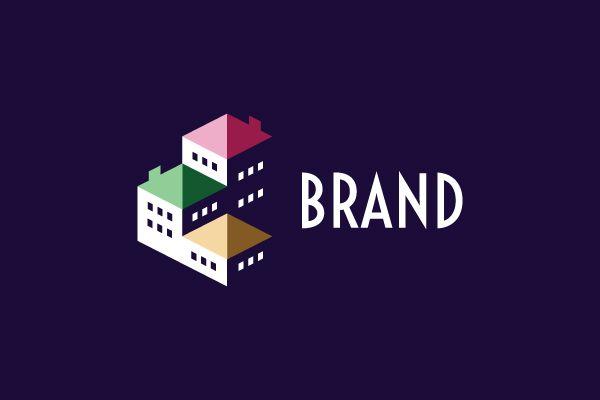 Rooftop Buildings Logo Building Logo Clever Logo Design Roof Colors