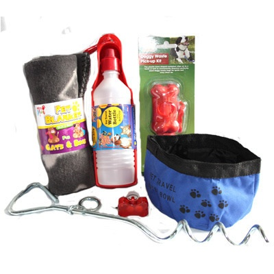 Doggy Suitcase - A selection of products to use when camping with your dog