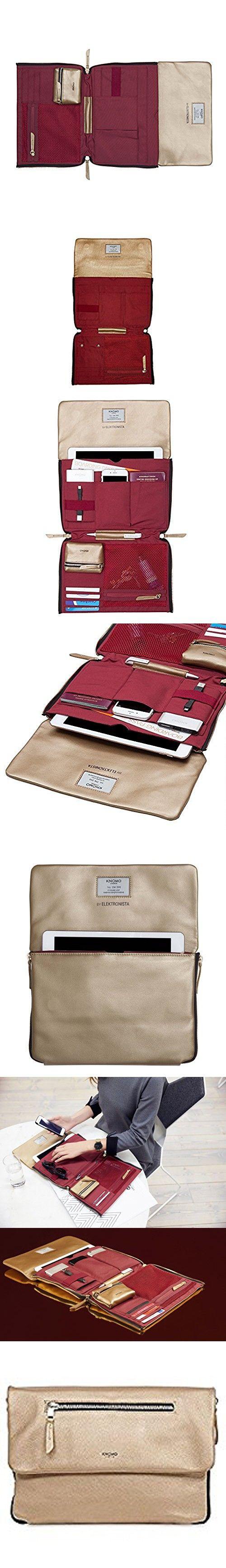 "KNOMO London Mayfair Luxe Elektronista Clutch Leather 10"" - Gold"