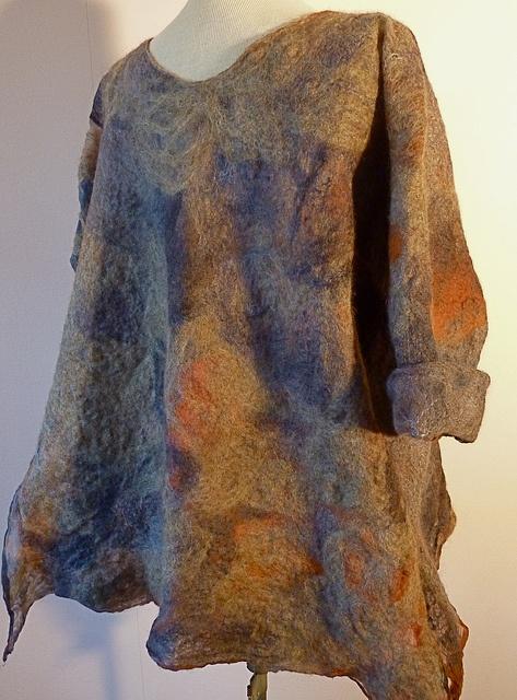 Cashmerino-silk nunofelted pullover by tincthanddyes, via Flickr