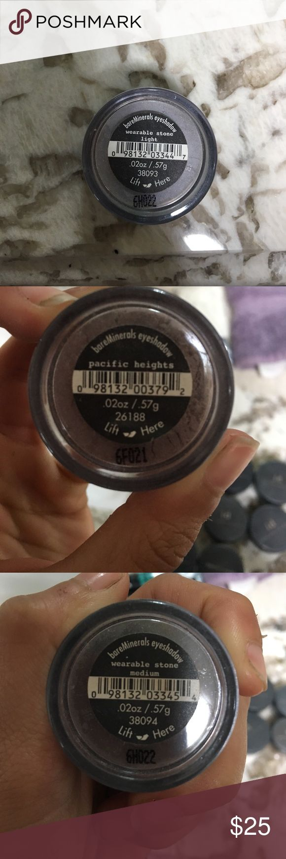 I.d bare minerals eye shadow Each for $3 or $25 for all 8! Hardly ever worn! Makeup Eyeshadow