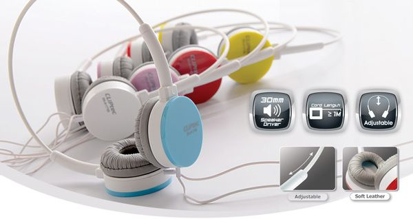CLiPtec Stereo Headphone (Color - Band) BMH718 -- Only Rp. 101.000,-