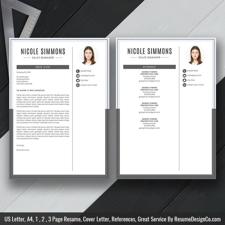 Instant Download The Nicole Resume Cv TemplateResume