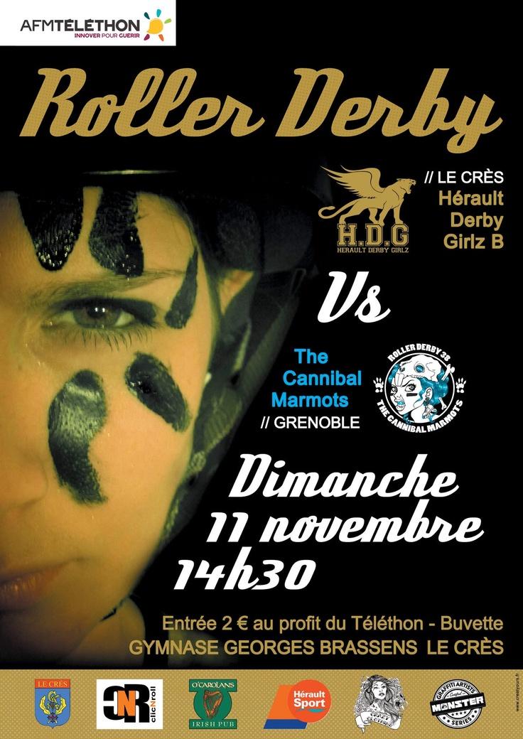 Hérault Derby Girlz B vs Cannibal Marmots (Grenoble) - Dimanche 11 novembre à 14h30