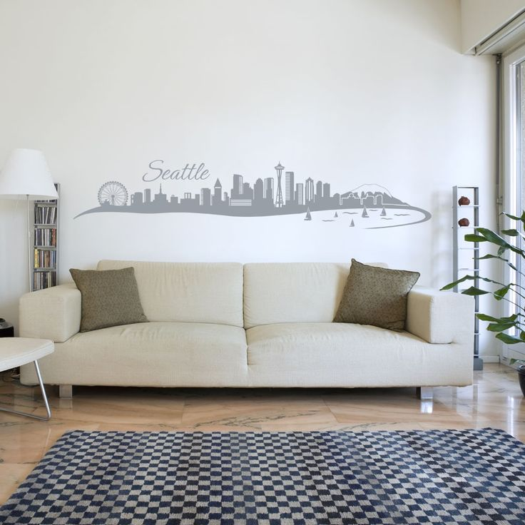Style and Apply Seattle Skyline Wall Decal