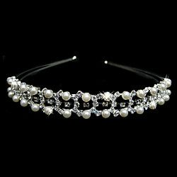 vackra klara kristaller och pärlor imitation bröllop brud tiara / huvudstycke | LightInTheBox