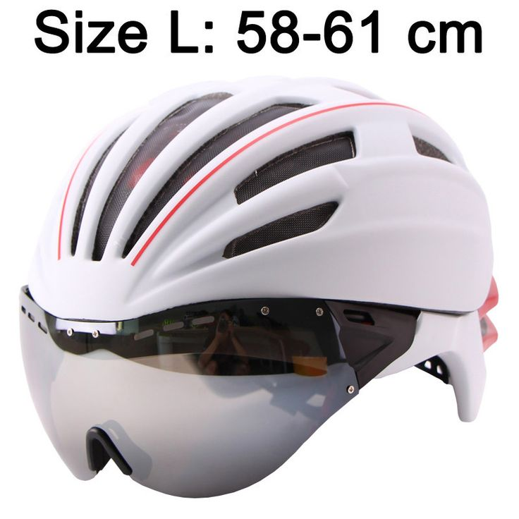 LOCLE 280g Goggles Cycling Helmet Insect Net Bicycle Helmet With Lens Double Layers In-mold Bike Helmet 28 Vents Casco Ciclismo
