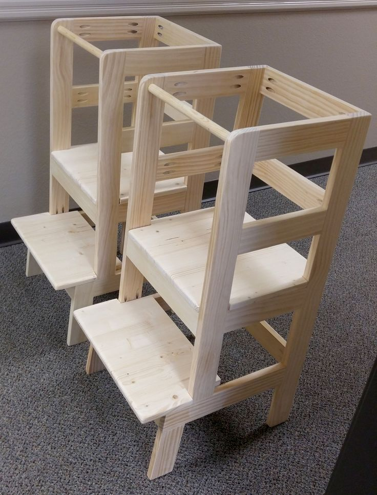 Made a pair of learning towers for co-worker's toddler twins to practice pocket holes for the first time http://ift.tt/2iC6veC