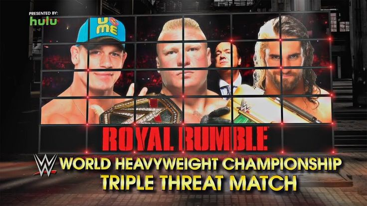 Brock Lesnar vs John Cena vs Seth Rollins Campeonato Mundial WWE Español...