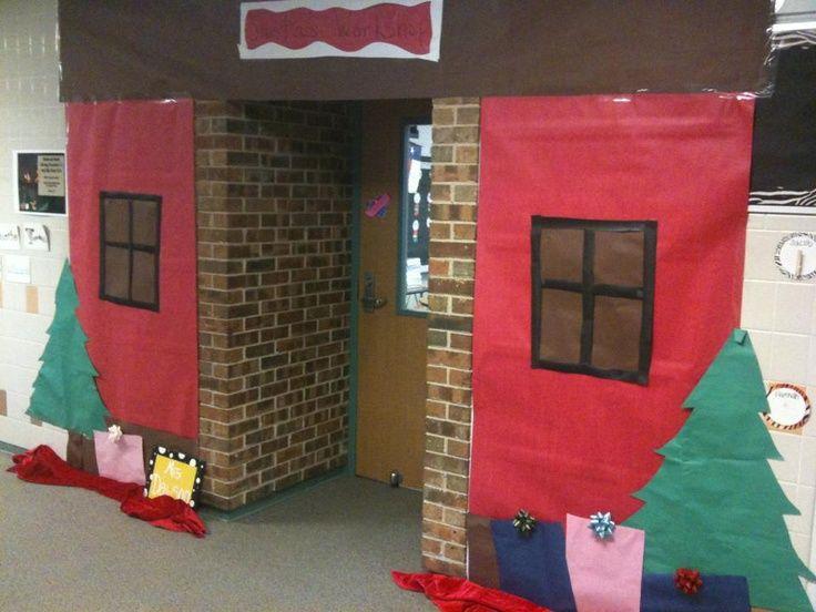 santa's workshop decorating ideas   Santa's Workshop Classroom Door Decor   Book Fair Ideas