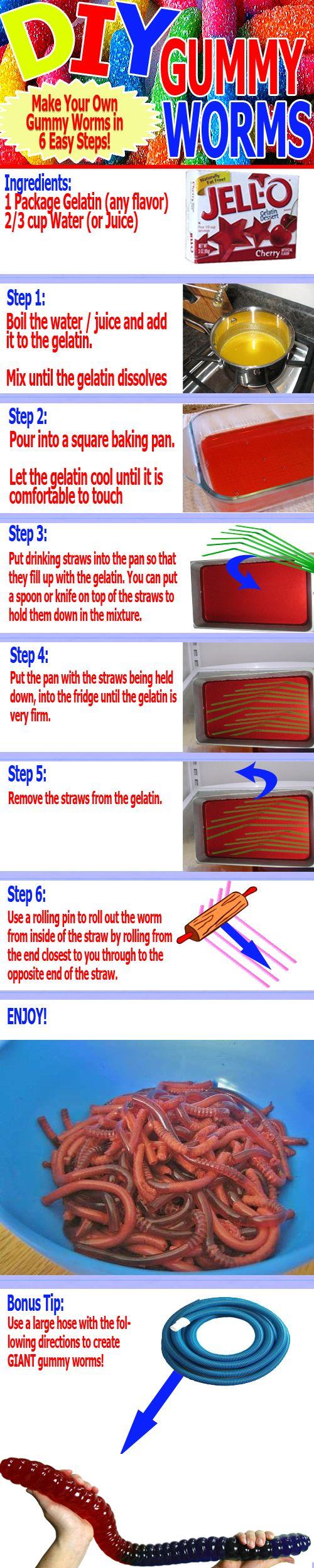 DIY Gummy Worms!