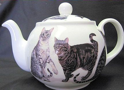 6C Cats Galore English Bone China Teapot - English Teapots - Roses And Teacups