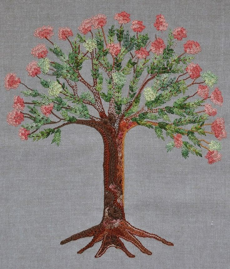 Embroidered Blossom Tree.