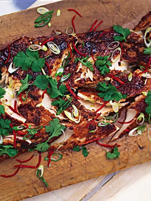 Dinner Party Ideas Jamie Oliver Part - 41: Jamie Oliver - Marinated And Grilled Salmon