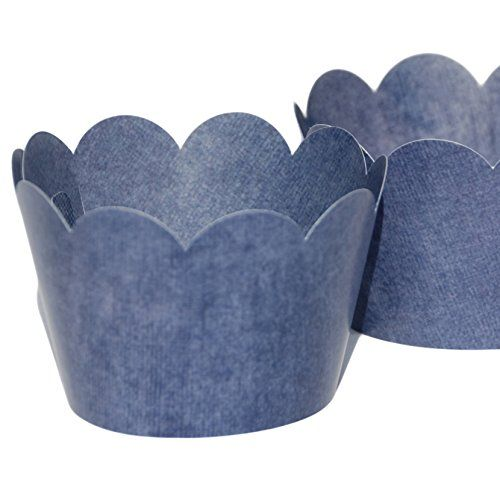 Blue Denim Cupcake Wrappers For Cowboy Party Country Western Barn Wedding  Cake Decorations For Boy Or Girl Birthday Party Confetti Couture Party  Supplies 36 ...