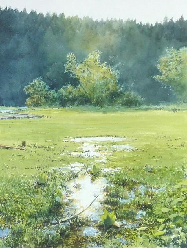 Water color by Abe Toshiyuki