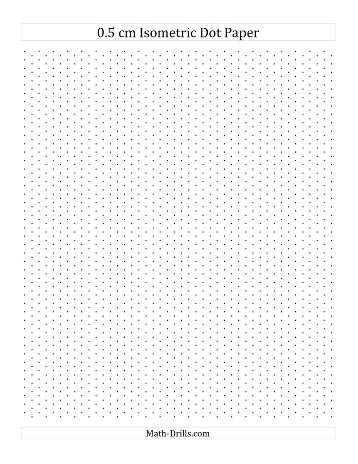 The  Cm Isometric Dot Paper Portrait A Math Worksheet From