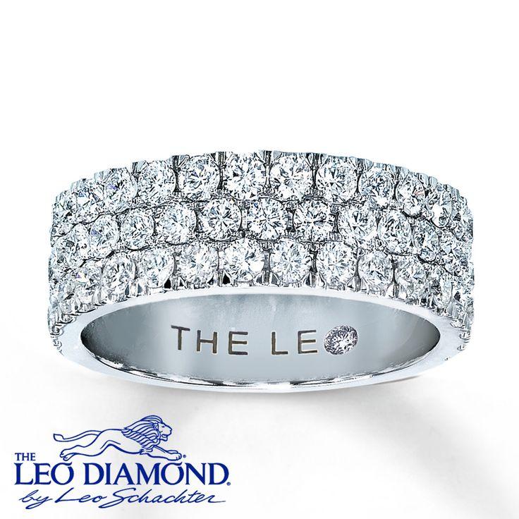 diamond anniversary ring 1 1/2 ct leo diamonds.