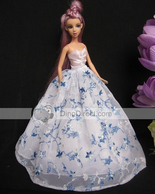 Free Printable Barbie Doll Ball Gown Pattern