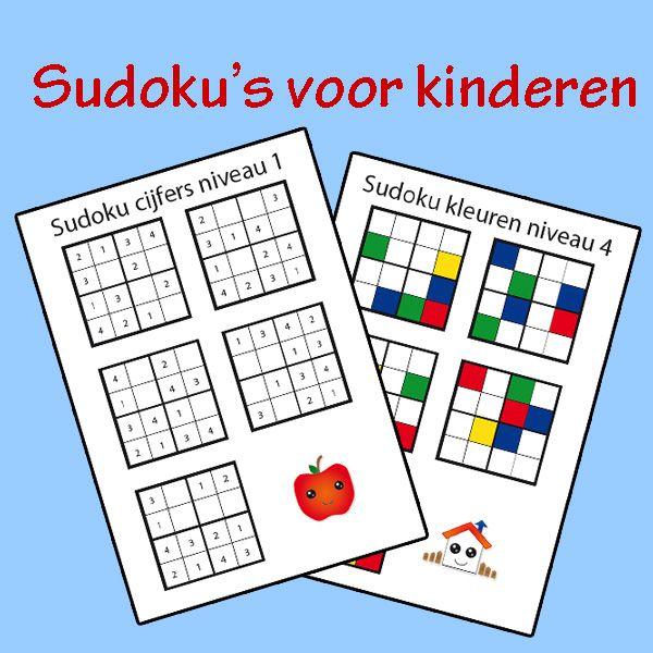 Sudoku's voor kinderen (gratis download)