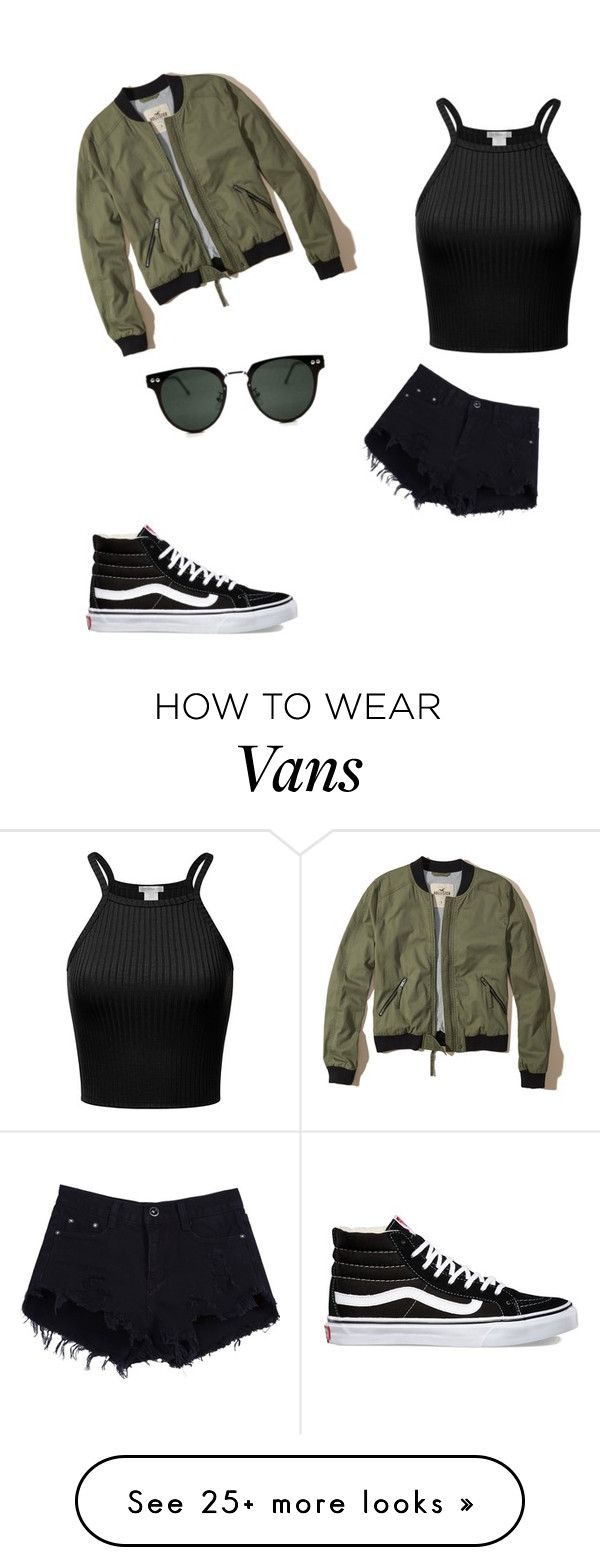"""Da bomber jacket"" by laurend24-1 on Polyvore featuring Vans, Hollister Co. and Spitfire"