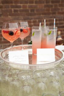 Signature or non-alcoholic beverages are a nice addition to your wedding reception beverage bar.