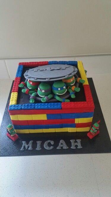 Lego ninja turtle cake