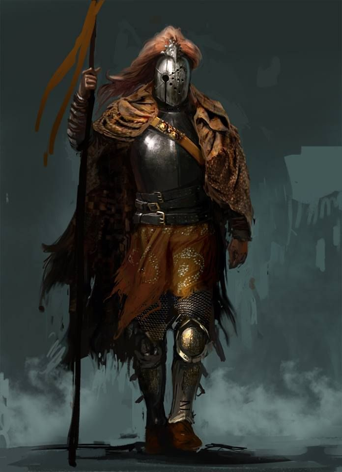 Soldier Fighter Paladin Knight spear platemail armor armor clothes clothing fashion player character npc | Create your own roleplaying game material w/ RPG Bard: www.rpgbard.com | Writing inspiration for Dungeons and Dragons DND D&D Pathfinder PFRPG Warhammer 40k Star Wars Shadowrun Call of Cthulhu Lord of the Rings LoTR + d20 fantasy science fiction scifi horror design | Not Trusty Sword art: click artwork for source