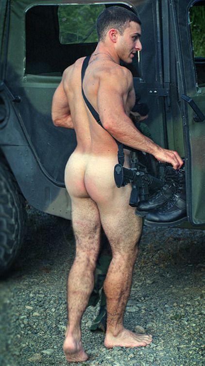 Naked gay service men