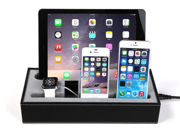 apple charging station multiple apple watch iphone ipad. Black Bedroom Furniture Sets. Home Design Ideas