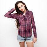 Γυναικείο πουκάμισο καρό Denim Junkie #www.pinterest.com/brands4all